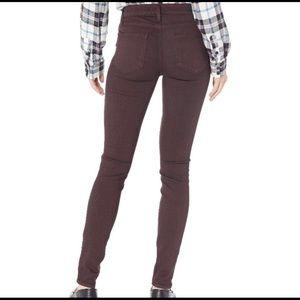 Paige Purple Verdugo Ankle Skinny Stretch Jeans 28